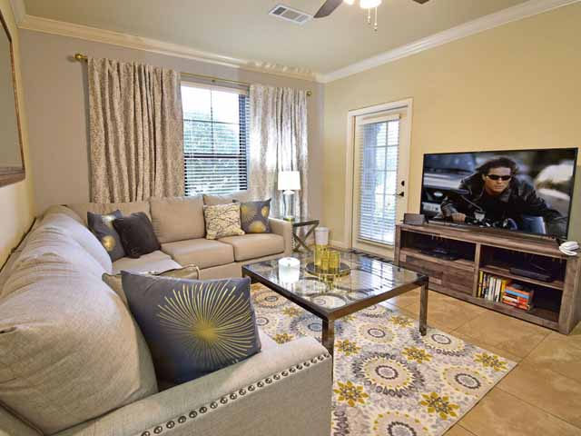 Living area in our Bella Piazza properties