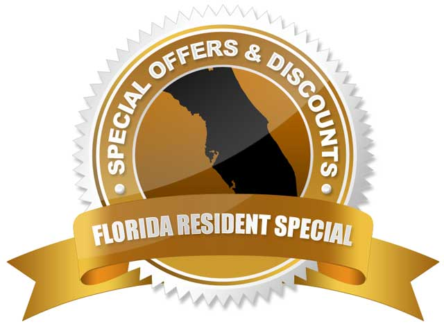 Special discounts for Florida residents