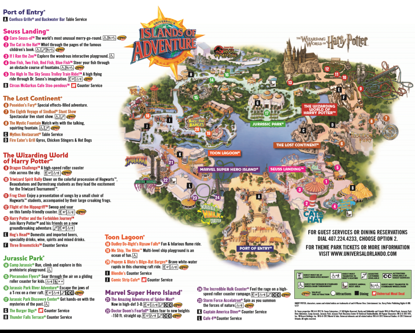 Map of Islands of Adventure