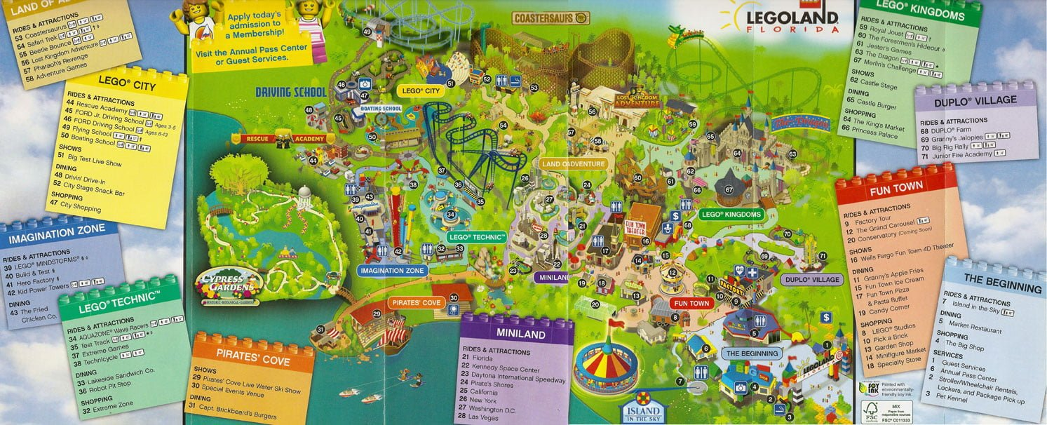 Map of Legoland Florida