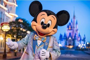 Mickey Mouse in his new 50th anniversary outfit