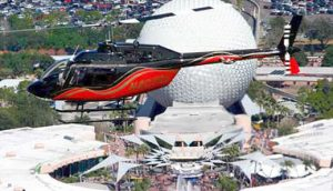 Image of helicopter ride over Epcot