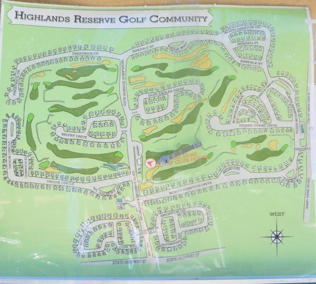Image of Highlands Reserve layout
